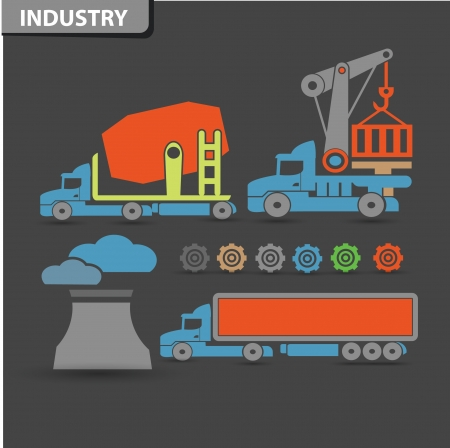 Truck   industry icons,vector Vector