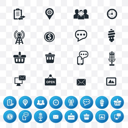 Internet icon set,2 version in 1,vector Vector