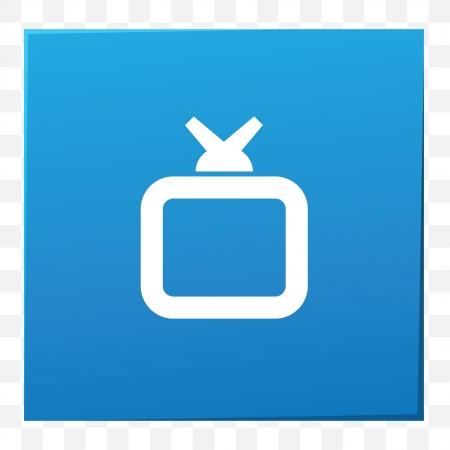 Television symbol,vector Vector
