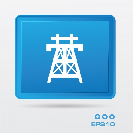 powerline: High voltage symbol,vector Illustration