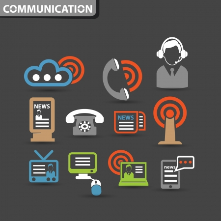 Wireless   communication icons,vector Vector