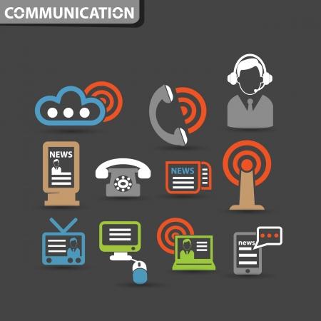 wireless communication: Wireless   communication icons,vector