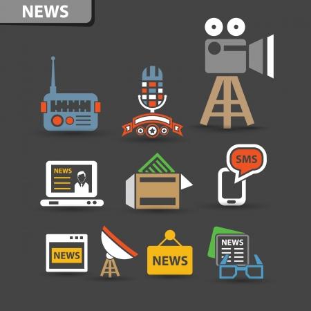 simplus: Noticias iconos, vector