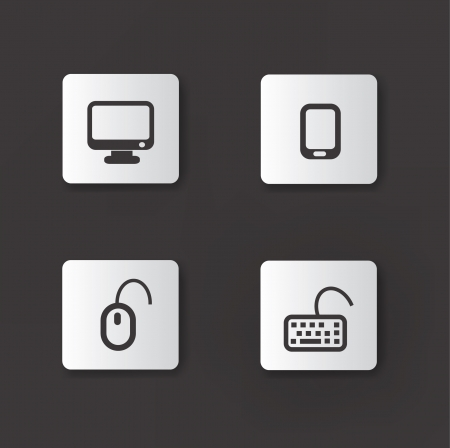 pictogrammes: Technology device icons,vector