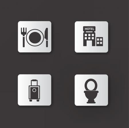 bag of soil: Hotel icons,vector Illustration