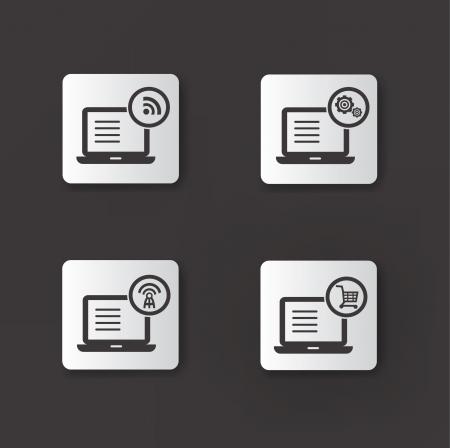 Computer icons,vector Vector