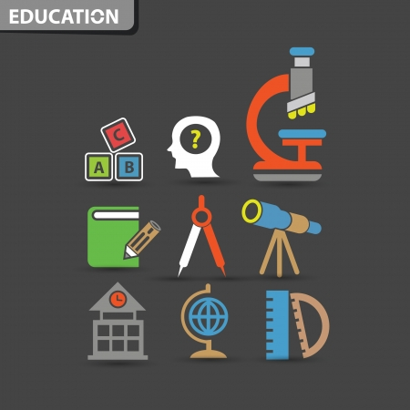 Education concept symbol,vector Vector