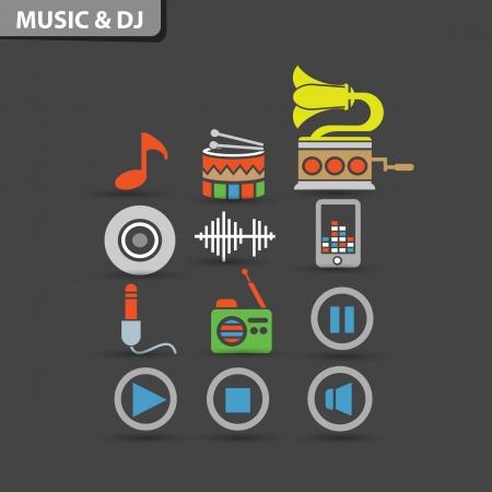 Music   Dj concept symbol,vector Stock Vector - 21283404