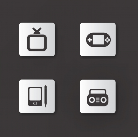 Technology device icons,vector Vector