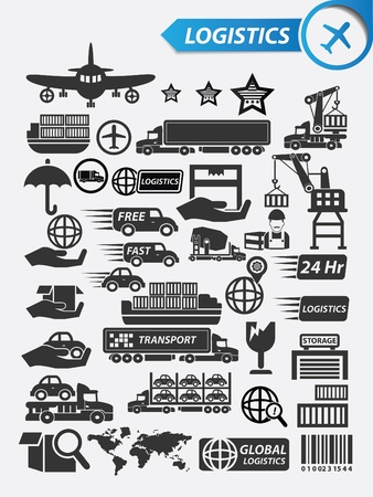 Logistics icons,vector Vector