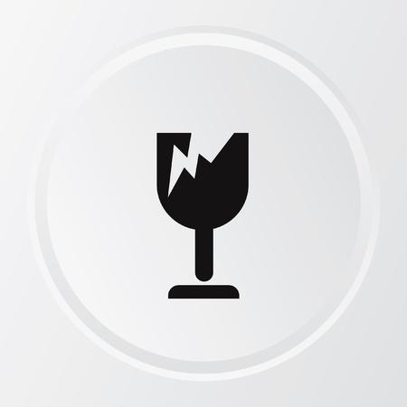 vidrio roto: Broken s�mbolo, vector Vectores