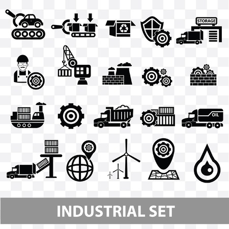 Industrial icons,Blank background version,vector Vector