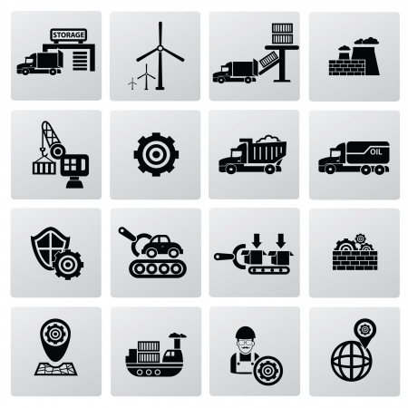 skid steer: Industrial icons icons,vector Illustration