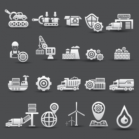 Logistics and industry icons,vector Vector