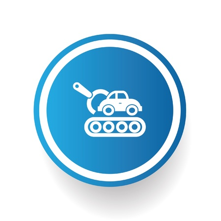 spares: Car engineer symbol,vector Illustration