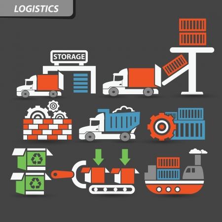 Transport and logistics symbol,vector Vector