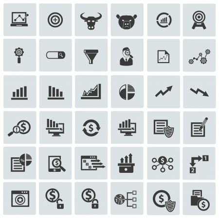 incorporation: Market,exchange and analysis icons,vector