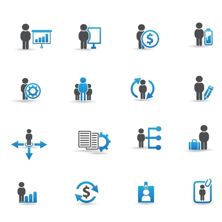 Human resource,management and business icons,vector Stock Vector - 21283529