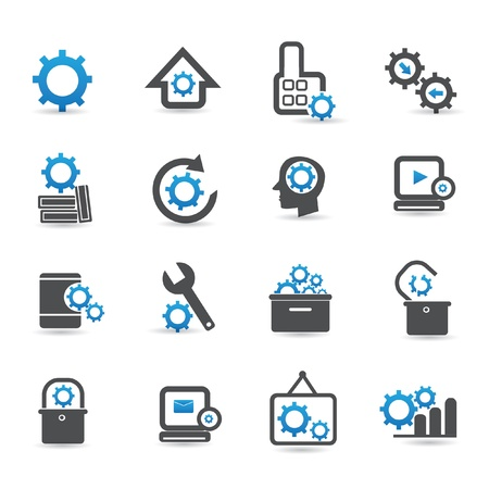 horologe: Gears icons,vector