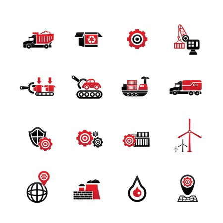 Logistics icons,on white background,vector Vector