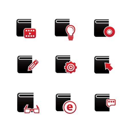 Books icons,on white background,vector Stock Vector - 21395736