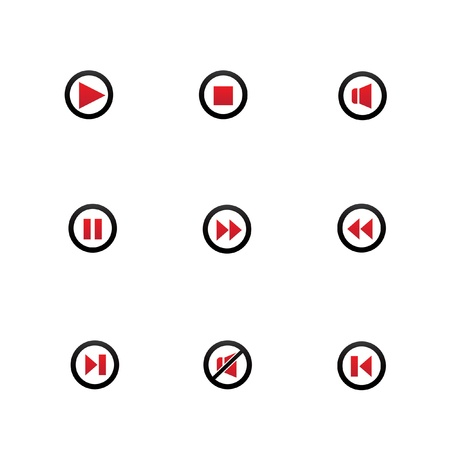 Audio icons,on white background,vector Vector