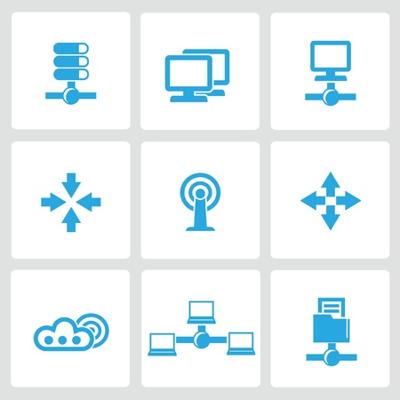 Networking icons,vector Stock Vector - 21395788