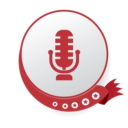 музыка: Символ микрофона, вектор Иллюстрация