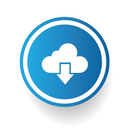 Output cloud computing symbol,vector Vector