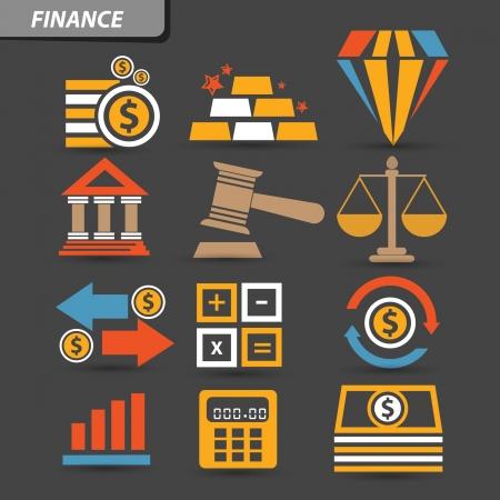 bank icon: Finance icons,vector Illustration