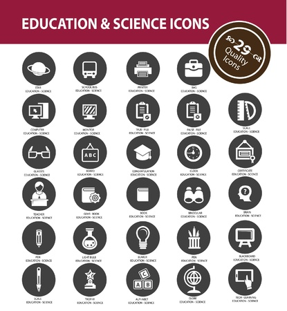 Education icons,vector Stock Vector - 21395864