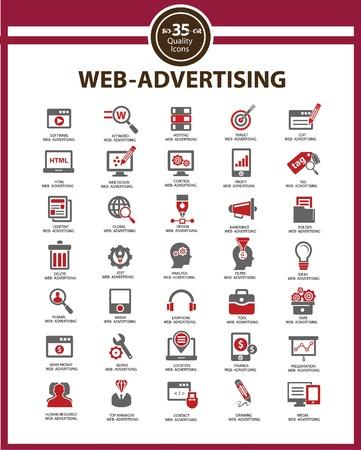 apoyo social: Set de Medios - Publicidad iconos, vector