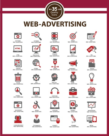 Set Media - Advertising icons,vector