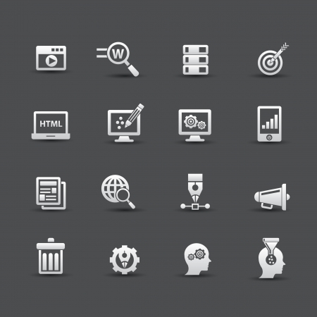 Web media, Seo icons,vector Vector