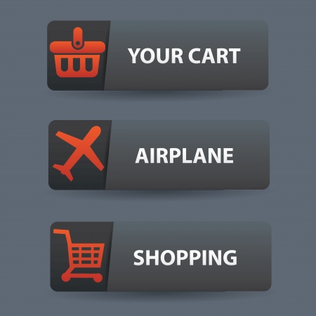 Shopping buttons,vector