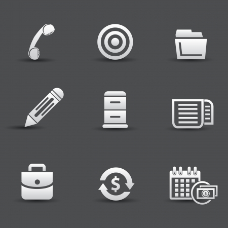 Office icons,vector Stock Vector - 21395924