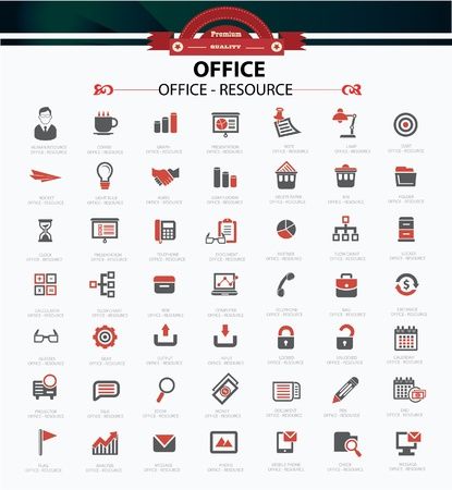 buble: Office icons,vector  Illustration