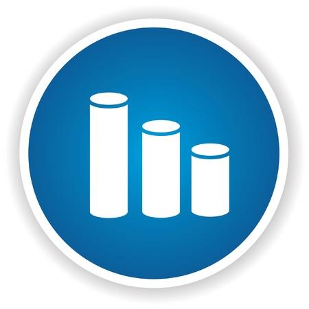 Graph down,vector Stock Vector - 21393925