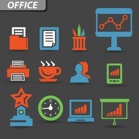 Office symbol,vector Vector