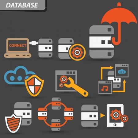 databank: Databasesysteem symbool, vector