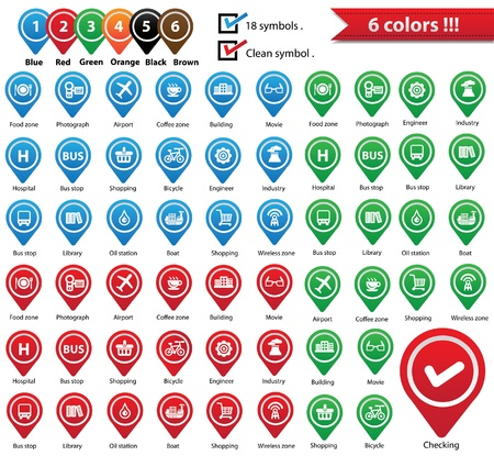 wireless icon: Vector Map Pins Pointer,Symbols for use map,vector