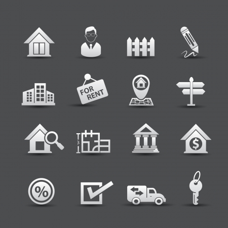 estate: Real estate icons,vector