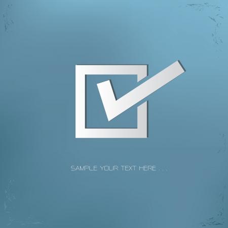 garrapata: Marca de verificación símbolo, vector