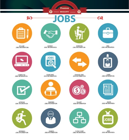 Jobs icons,vector Vector