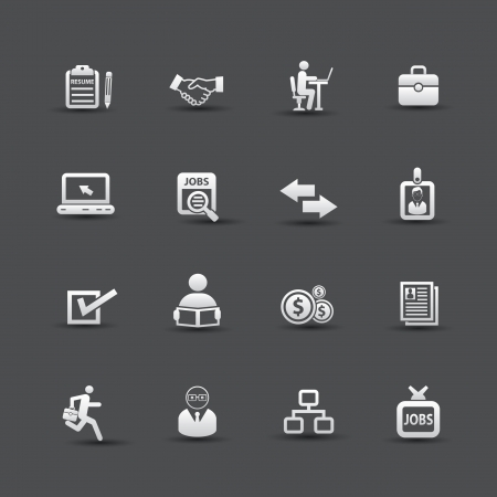 Business and jobs icons,vector Vector