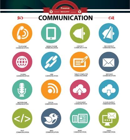 összekapcsol: Kommunikációs ikonok, vektor