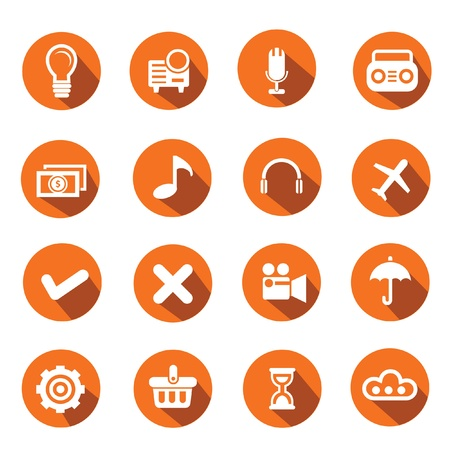time sharing: Web icons,Orange version,vector