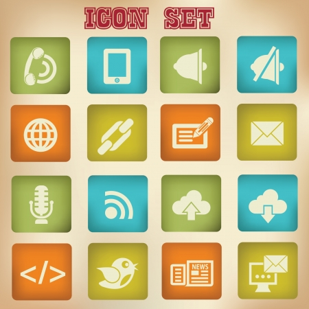 Communication vintage icons,vector Stock Vector - 21396016