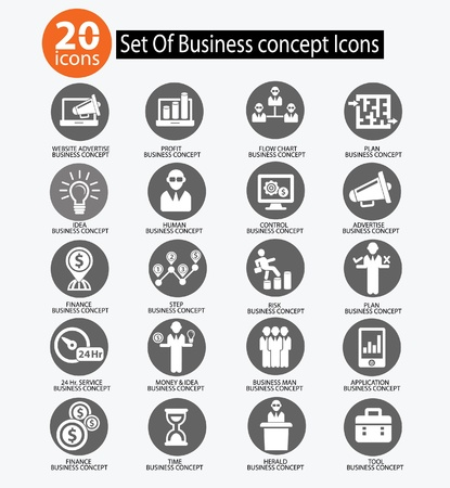Human resource,Business concept icons,vector Stock Vector - 21569591