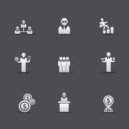 Human resource icons,vector Vector